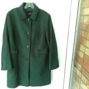 Talbots Coat Womens 14P Petite Wool Cashmere Blend